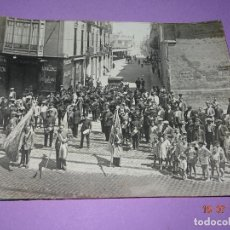 Fotografía antigua: ANTIGUA FOTOGRAFIA DE GRAN TAMAÑO *DESFILE DE LAS BANDERAS POR LAS CALLES DEL CABAÑAL* VALENCIA. Lote 128583607
