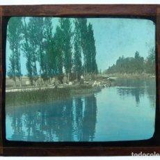 Fotografía antigua: CAUCE DE CASTILLA ? - ANTIGUO CRISTAL PARA LINTERNA MAGICA - AÑOS 1930. Lote 129587379