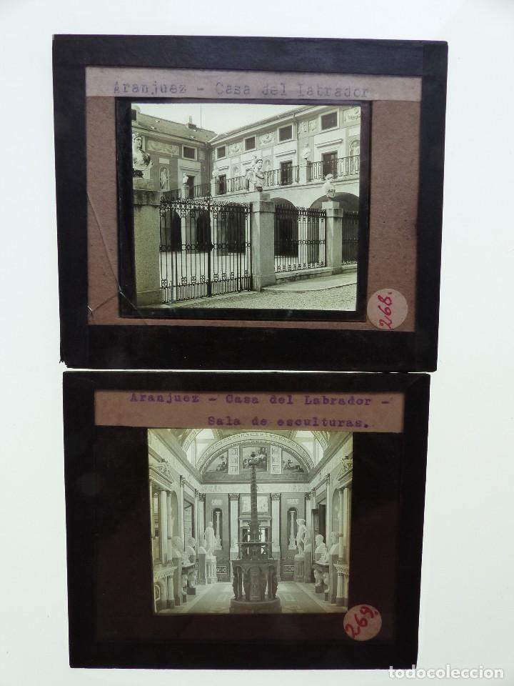 ARANJUEZ, MADRID, 2 CRISTALES - ANTIGUO CRISTAL PARA LINTERNA MAGICA - AÑOS 1920-30 (Fotografía Antigua - Ambrotipos, Daguerrotipos y Ferrotipos)