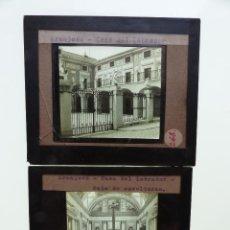 Fotografía antigua: ARANJUEZ, MADRID, 2 CRISTALES - ANTIGUO CRISTAL PARA LINTERNA MAGICA - AÑOS 1920-30. Lote 130378966