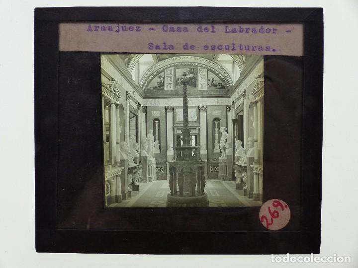 Fotografía antigua: ARANJUEZ, MADRID, 2 CRISTALES - ANTIGUO CRISTAL PARA LINTERNA MAGICA - AÑOS 1920-30 - Foto 3 - 130378966