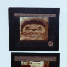 Fotografía antigua: BURGOS, 3 CRISTALES - ANTIGUO CRISTAL PARA LINTERNA MAGICA - AÑOS 1920-30. Lote 130379134