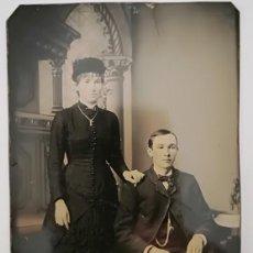Fotografía antigua: FERROTIPO AMERICANO POSIBLEMENTE DE BODA CA 1870. Lote 132727126