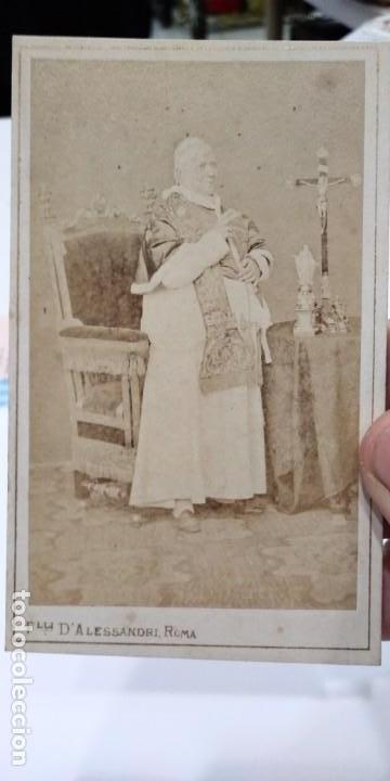FOTOGRAFÍA ORIGINAL DEL PAPA PIO IX FOTOGRAFO FRATELLI DALESSANDRI PRIMER FOTOPERIODISTA DE GUERRA (Fotografía Antigua - Ambrotipos, Daguerrotipos y Ferrotipos)