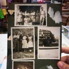 Fotografía antigua: FOTOGRAFIA LOTE DE CUATRO AÑOS 1946,1947,1949 PEGADAS AL CARTON. Lote 133764326