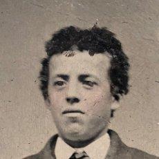 Fotografía antigua: PHOTO WILLIAM BONNEY AKA BILLY THE KID. TINTYPE. Lote 135583530