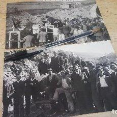 Fotografía antigua: APERTURA TUNEL SOMOSIERRA, NUEVO FERROCARRIL BURGOS MADRID, MINISTRO GUERRA DEL RIO, AÑOS 30. Lote 135998502
