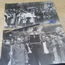 Fotografía antigua: CRIADOS SACAN EL FERETRO DE DUQUESA DE ALBA, ROSARIO SILVA, DEL PALACIO DE LIRIA, 1934. Lote 136015602