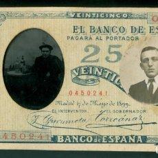 Fotografía antigua: RETRATO - FERROTIPO Y BILLETE CON FOTOGRAFIA - 1899. Lote 137208514
