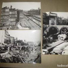 Fotografía antigua: REFORMA DE VIA LAYETANA DE BARCELONA, TUNELES DEL METRO, CARA AL MAR Y PLAZA DEL ANGEL. Lote 139260746