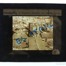 Fotografía antigua: VALENCIA, VISTA DESDE EL MIGUELETE - ANTIGUO CRISTAL PARA LINTERNA MAGICA - AÑOS 1930. Lote 140744826