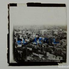 Fotografía antigua: CADIZ, PANORAMA DESDE LA CATEDRAL - ANTIGUO CRISTAL PARA LINTERNA MAGICA - AÑOS 1930. Lote 142429326