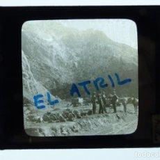 Fotografía antigua: BILBAO, VISTA - ANTIGUO CRISTAL PARA LINTERNA MAGICA - AÑOS 1930. Lote 142429450