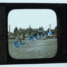 Fotografía antigua: ARANJUEZ, MADRID - PALACIO - ANTIGUO CRISTAL PARA LINTERNA MAGICA - AÑOS 1930 - LEVY. Lote 142429998