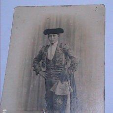 Fotografía antigua: FOTOGRAFIA DE TORERO. FINALES DEL S.XIX. FOTÓGRAFO FULGENCIO SASTRE. PALMA DE MALLORCA.. Lote 142614970