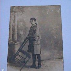 Fotografía antigua: FOTOGRAFIA ORIGINAL POSADO ADOLESCENTE. AÑOS 20. FOTÓGRAFO ARMENGOL.BARCELONA.. Lote 142722130