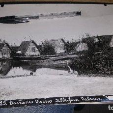 Fotografía antigua: BARRACAS VIVEROS ALBUFERA DE VALENCIA, FOTO DE ESPLUGAS, 24 X 18 CM.. Lote 143037426