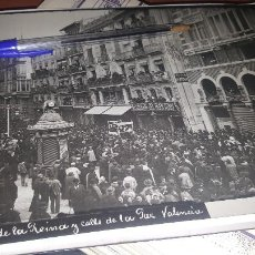 Fotografía antigua: PLAZA DE LA REINA Y CALLE DE LA PAZ, VALENCIA, 24 X 18 CM.. Lote 143915374