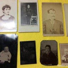 Fotografía antigua: LOTE DE 11 FOTOS SIGLO XIX.. Lote 110779211