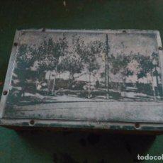 Fotografía antigua: PLANCHA PARA IMPRENTA DE UNA PLAZA DE HUESCA PPIOS.S XIX. Lote 151141186