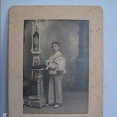 Fotografía antigua: FOTOGRAFIA PRIMERA COMUNIÓN 1908.PHOTO STUDIO ADLER.. Lote 151519666