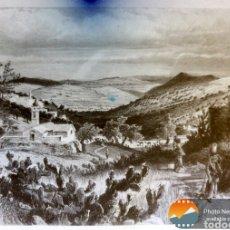 Fotografía antigua: PLACA FOTOGRAFICA DE CRISTAL VALLE DE NAZARETH. Lote 152178104