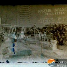 Fotografía antigua: 2 X PLACA FOTOGRÁFICA NEGATIVO - ZARAGOZA PARQUE INFANTIL - HERMES ENCARGO. Lote 152179224
