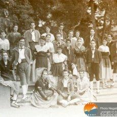 Fotografía antigua: CASTELLERS DE BARCELONA 1900 - NEGATIVO DE CRISTAL, CATALANES CASTELLERS BARRETINA.. Lote 152166122