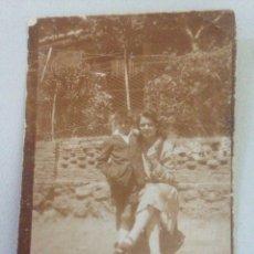 Fotografía antigua: FOTOGRAFÍA ANTIGUA MADRE E HIJO. Lote 156313192