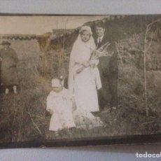 Fotografía antigua: FOTOGRAFÍA ANTIGUA RECIÉN CASADOS. Lote 156315150