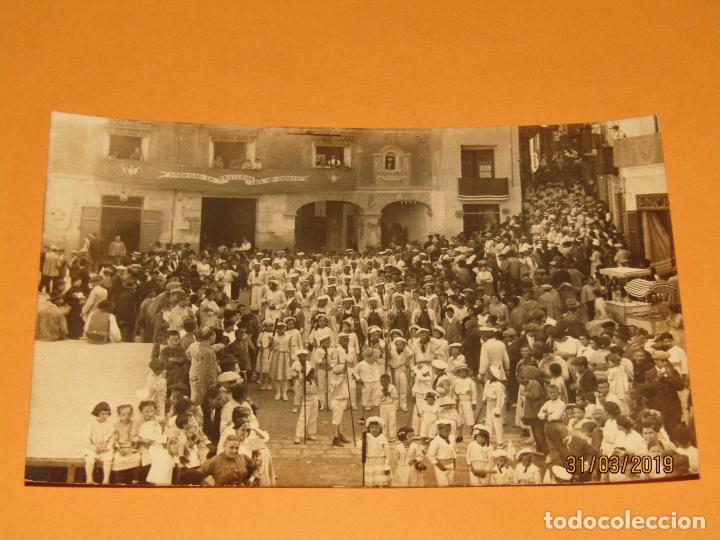 ANTIGUA FOTOGRAFÍA MOROS Y CRISTIANOS EN ONTENIENTE ONTINYENT MARINOS - FINAL SIGLO XIX (Fotografía Antigua - Ambrotipos, Daguerrotipos y Ferrotipos)