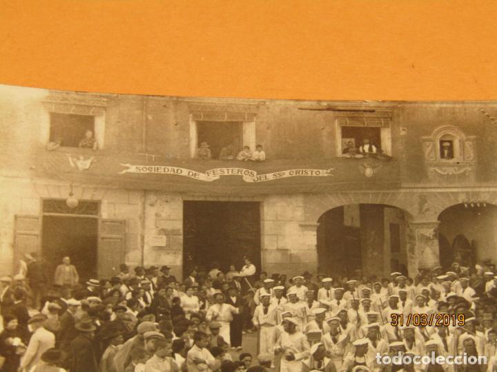 Fotografía antigua: Antigua Fotografía MOROS Y CRISTIANOS en ONTENIENTE Ontinyent MARINOS - Final Siglo XIX - Foto 4 - 157913234