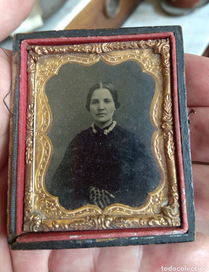 Fotografía antigua: Antiguo Ambrotipo Mujer Enlutada - Foto 2 - 160311950