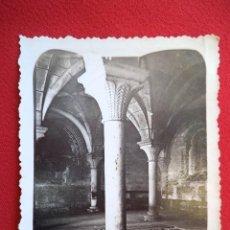 Fotografía antigua: FOTO DE LA SALA CAPITULAR DEL MONASTERIO DE VERUELA ZARAGOZA AÑO 1935. Lote 160837038