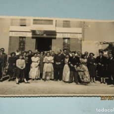 Fotografía antigua: ANTIGUA FOTOGRAFÍA DE FINEZAS FALLAS DE VALENCIA *SÓ QUÉLO* COMIDA EN EL PERELLÓ - 18 DE MARZO 1949. Lote 165653946