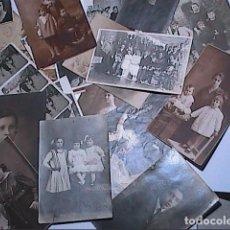 Fotografía antigua: LOTE DE 21 FOTOGRAFÍAS VARIAS. 1900-1920, POSADOS, BODAS, 1ERA COMUNIÓN ETC.BARCELONA.. Lote 165676802