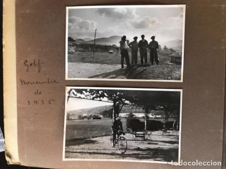 GOLF 23 FOTOGRAFIAS ANTIGUAS CAMPO DE GOLF DE NEGURY Y CHIBERTA GOLFISTAS ESPAÑOLES MUJERES CLUB (Fotografía Antigua - Ambrotipos, Daguerrotipos y Ferrotipos)