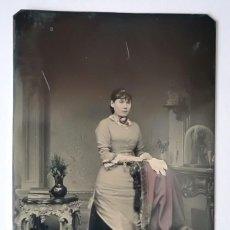 Fotografía antigua: FERROTIPO LIGERAMENTE COLOREADO 1870-1880 USA 9 X 6 CM. Lote 167497588