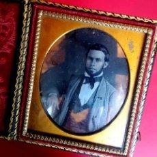 Fotografía antigua: DAGUERROTIPO - RETRATO - 1860 - CAJA EN GUTAPERCHA. Lote 169888096