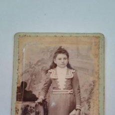 Fotografía antigua: ANTIGUA FOTOGRAFIA NIÑA SIGLO XIX, FRANCIA. Lote 170393148
