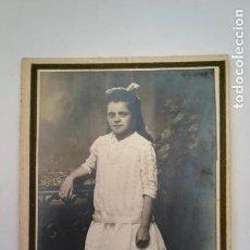 Fotografía antigua: ANTIGUA FOTOGRAFIA NIÑA SIGLO XIX. Lote 170393264