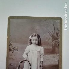 Fotografía antigua: ANTIGUA FOTOGRAFIA NIÑA, SIGLO XIX.AUSTRIA. Lote 170393652
