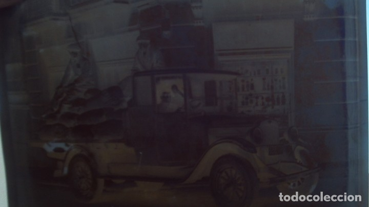 Fotografía antigua: 4 placas de cristal buen tamaño 25cm por 18cm 2 camiones aceitera del norte s.l almacen de patatas - Foto 3 - 175455142