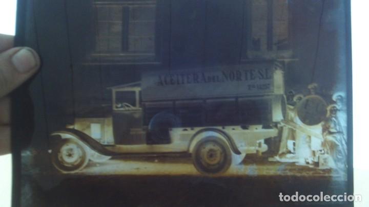 Fotografía antigua: 4 placas de cristal buen tamaño 25cm por 18cm 2 camiones aceitera del norte s.l almacen de patatas - Foto 4 - 175455142