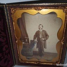 Fotografía antigua: CURIOSO DAGUERROTIPO SIGLO XIX. Lote 177504638
