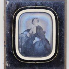 Fotografía antigua: DAGUERROTIPO- RETRATO DESCONOCIDA .1852. Lote 178035058