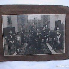 Fotografía antigua: FOTOGRAFIA ORQUESTRINA TZIGAN AMERICANA NIC - FUSLY. 1919. HOTEL RITZ. BARCELONA.. Lote 178346997