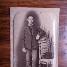 Fotografía antigua: RETRATO DE HOMBRE.FOTOGRAFIA DE FRANCISCO AMER. PALMA. Lote 180115780