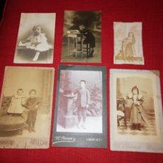 Fotografía antigua: LOTE 6 FOTOGRAFÍAS ANTIGUAS DE NIÑOS.. Lote 181952598