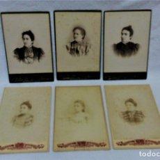 Fotografía antigua: LOTE 6 ANTIGUAS FOTOGRAFIAS SOBRE CARTÓN DE LOS FOTOGRAFOS A,CAPMANY Y J.E.PUIG.BARCELONA. Lote 182218078
